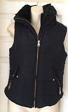 Women's Stradivarius Navy Hoodie Gillet Jacket Size S