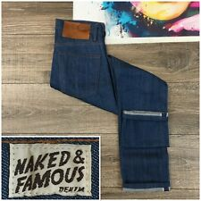 Naked & Famous Skinny Guy Lightweight Selvedge Jeans Fit 013601 Men Size 28 x 29