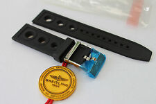 100% Genuine New Authentic Breitling Black Ocean Racer Tang Buckle Strap 22-20mm