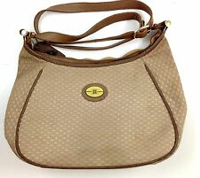 Borelli Leather Strap Shoulder Neutral Crossbody Jacquard Khaki / Brown Handbag