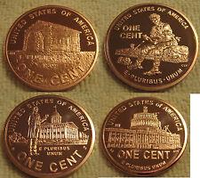 Lincoln  Bicentennial 1oz  Copper Rounds Set  LP1 - LP4