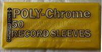 """50 Yellow Poly-Chrome Outer Sleeves 3 Mil 12"""" Record LP Album Cover 33 RPM Vinyl"""