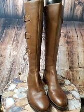 NEW ECCO Hobart 25 Buckle Riding Boots Women's SIZE 36 Cognac $259 100% Leather