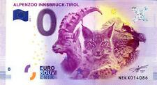 AUTRICHE Innsbruck, Alpenzoo, 2018, Billet 0 € Souvenir