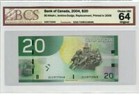 Canada $20 Dollar Banknote 2004 BC-64aA-i PMG Choice UNC 64 Original Replacement
