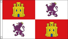 CASTILE AND LEON FLAG 5' x 3' Castilla Y Lyon Lion & Castle Spain Spanish Region