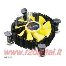 DISSIPATORE AKASA CPU INTEL 775 1155 1156 BASSO PROFILO 4P PWM SLIM CORE 2 I3 I5
