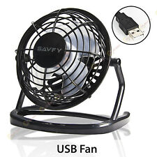 Mini Portable USB Fan Quiet Desktop Desk Silent Cooler Cooling For Laptop PC 4""