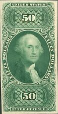 "#R101P4 XF ""$50 US I.R. GREEN"" PLATE PROOF ON CARD CV $230.00 BN7354"
