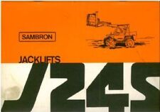 Sambron Jacklift J24S Operators Manual with Parts List - Telescopic Handler Lift