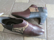 NEW OH NAPA COMBO LEATHER ANKLE BOOTIES BOOTS WOMENS 39 (US 8-8/5)