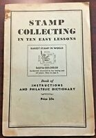 Vintage 1936 Grossman Stamp Co Stamp Collecting Lessons & Dictionary