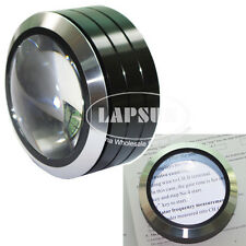 Big 70mm Dome 5X Glass Optical Table Magnifier LED Light Coin Stamp Loupe Read