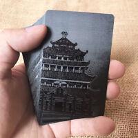 Black Playing Cards Deck Black Diamond Magic card Plastic poker Game Waterproof