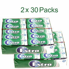 Wrigley's 60 Packets Extra Chewing Gum Spearmint Sugar Free Wrigleys 2 Packs