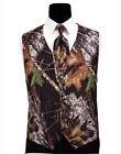 NEW Men's Mossy Oak Hunting Camo Tuxedo Vest Tie Hankie Alpine Wedding TUXXMAN