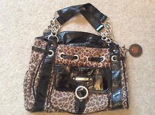 Jane Norman Brown Animal Print Handbag