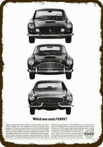 1963 VOLVO P1800 Car Vintage Look REPLICA METAL SIGN - FERRARI & ASTON MARTIN