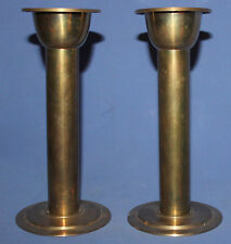 VINTAGE SET 2 BRASS CANDLESTICKS