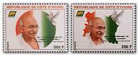 Ivory Coast 2019 Mahatma Gandhi India Indian theme Stamps set 2v MNH