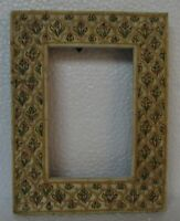 Vintage Handcrafted Painted Camel Bone Fitted Wooden Picture Photo Frame