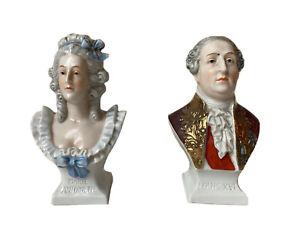 Scheibe Alsbach Bustes Porcelaine Louis XVI Marie-Antoinette Souvenir Royaliste