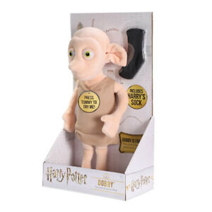 Harry Potter Speaking Dobby Electronic Interactive Plush Toy Noble Collection