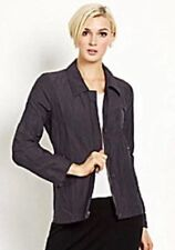 PL Eileen Fisher $358 Graphite Organic Cotton Rumpled Steel Shaped Jacket NWT