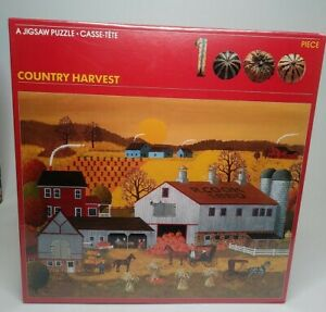 New SEALED Vintage COUNTRY HARVEST Jigsaw Puzzle 1000 Pieces 1978