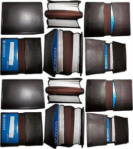 Lot of 12 New leather business card case, 100 plus card case, Brown card case BN