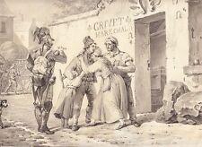 Dirk Langendijk, Abschied, Tuschpinsel und Feder in Grau, signiert, 1801