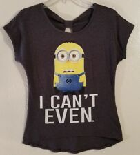 Despicable Me Minion Made Graphic Shirt Women's Juniors Size XS
