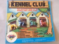 """Vintage Vending Display Card """"Kennel Club"""" Small Dog Toy Figures"""