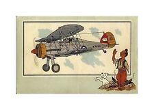 HERGé/TINTIN 195x  CHROMO L AVIATION 1939/45  N°  1 BE