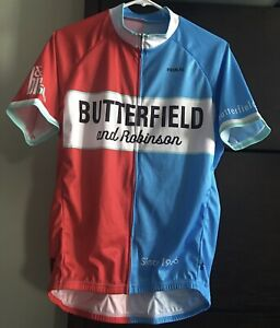 PRIMAL CYCLING JERSEY -SIZE MEN'S LARGE- 2016 BUTTERFIELD & ROBINSON-GENTLY USED