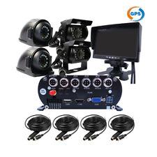 "1080P 4CH GPS  2TB HDD Car Mobile DVR MDVR Video Record CCTV Camera 7"" Monitor"