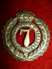 The 7th Madras Regiment Victorian Crown Pagri Cap Badge - Colonial India