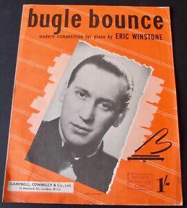 ERIC WINSTONE BUGLE BOUNCE PIANO SOLO SHEET MUSIC (1945) JAZZ EASY ENGLAND
