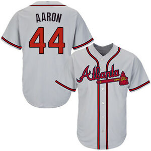 Atlanta Braves #44 Hank Aaron Fanmade Baseball Jersey XS-4XL
