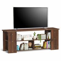 "TV Stand Entertainment Media Center Console Cabinet for TV's 50"" Bedroom Brown"