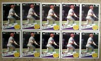 1985 - Topps #6 - Pete Rose Reds - 10ct Card Lot