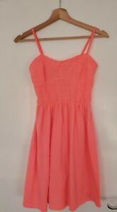 Ladies Primark Coral Summer Dress Size 8