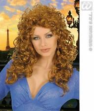 Long Curly Hair Brown Wig Country Singer Dolly Parton Style Fancy Dress
