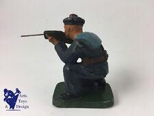 JRD FRANCE VERS 1935 FIGURINE SOLDAT MARIN TIRANT AU FUSIL A GENOU  H 7.5CM 1