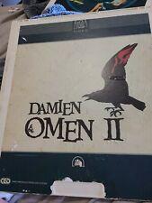 The Omen 2 Damien CED Videodisc Video disc Classic Horror