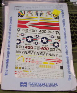COLORFUL CARRIER AIR WING 6 A-7E VA-87 F-14A VF-32 MICROSCALE 1/48 48-0186 OOP