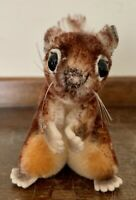 "Vintage Steiff Mini Miniature Squirrel Stuffed Plush Animal Toy 4"" tall"