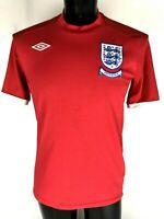 Umbro England World Cup 2010 Men's Adult Size 40 Milner Soccer Futbol Jersey B1