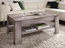 Table basse de salon chêne gris brut sciage foncé canapé d'appoint DEPOSE