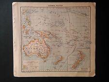 OCEANIA POLITICA (Tavola atlante - Pennesi, Almagià - Paravia - 1937)